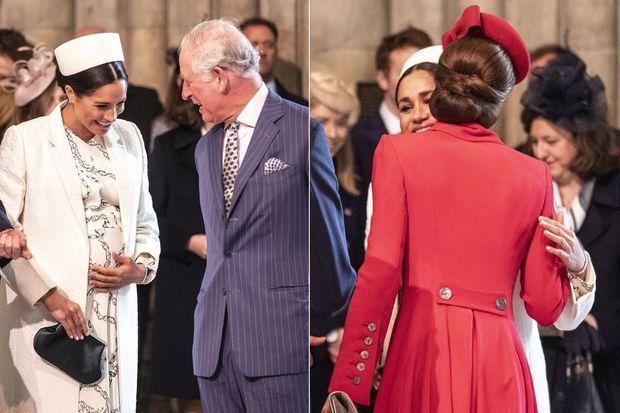 Meghan Markle, le prince Charles et Kate Middleton à la messe célébrée lors de la journée du Commonwealth le 11 mars 2019