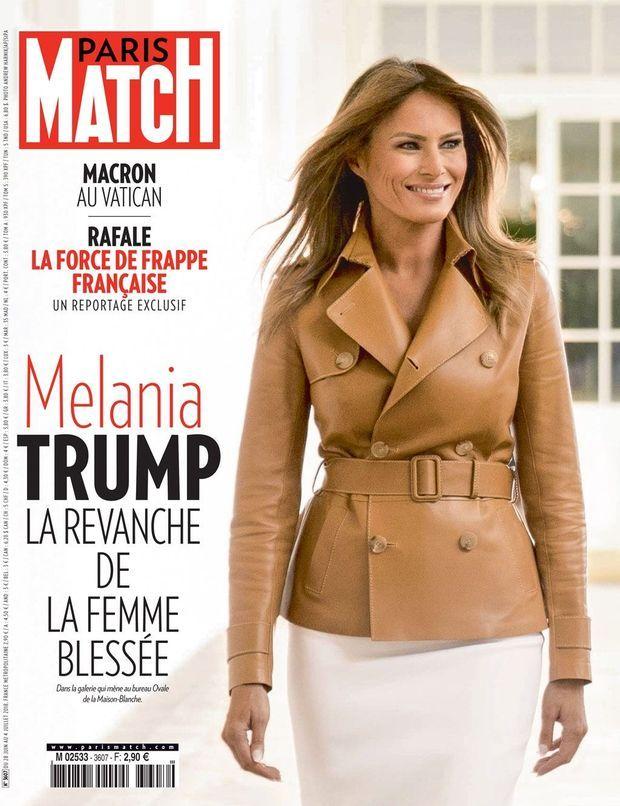 Melania Trump en couverture de Paris Match numéro 3607.