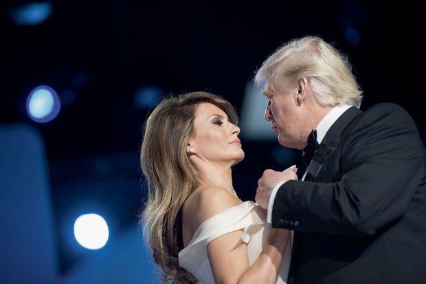 Pas de deux distancié, ce 20 janvier 2017, pour l'investiture de Donald Trump lors du Freedom Ball, bal de la liberté.