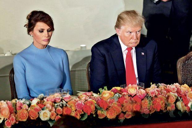 Le couple présidentiel affiche une humeur maussade le jour de la prise de fonction de Donald Trump à Washington.