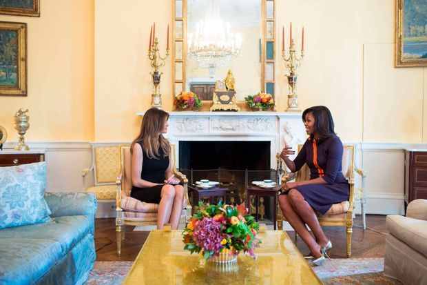 Melania Trump et Michelle Obama à la Maison-Blanche, le 10 novembre 2016.