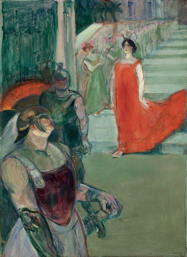 « Messaline descend l'escalier bordé de figurants », 1900-1901.