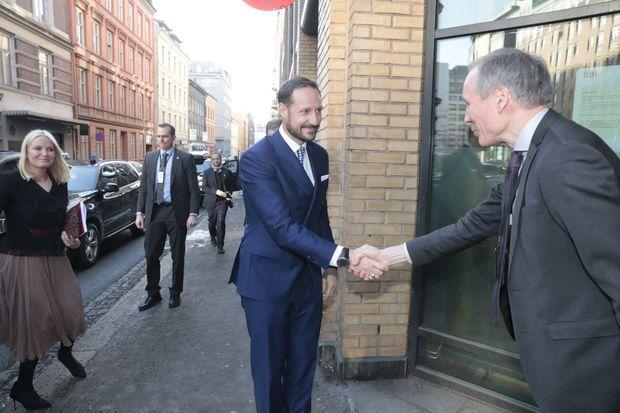 La princesse Mette-Marit et le prince Haakon de Norvège à Oslo, le 13 février 2017