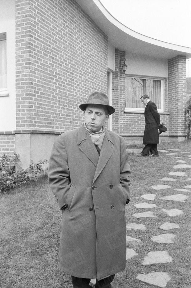 « Au cœur du drame, Daniel Barenne, 35 ans. Il défend aujourd'hui sa femme, pour leurs enfants. » - Paris Match n°625, 1er avril 1961