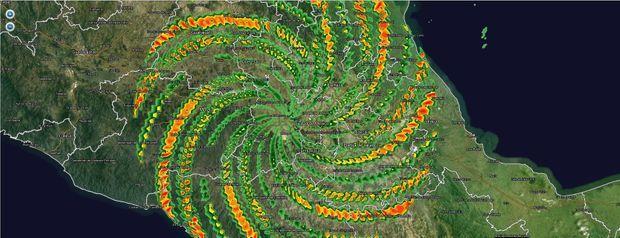 Le vortex au-dessus du Mexique en 2012