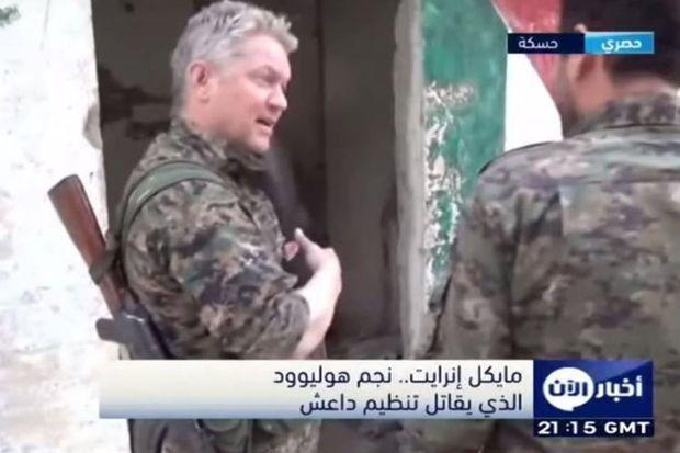 Michael Enright, l'acteur devenu combattant auprès des forces kurdes.