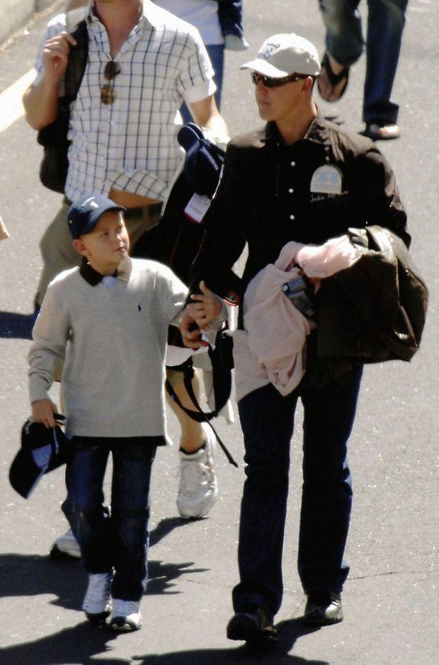 Michael et Mike à Tenerife en 2007.