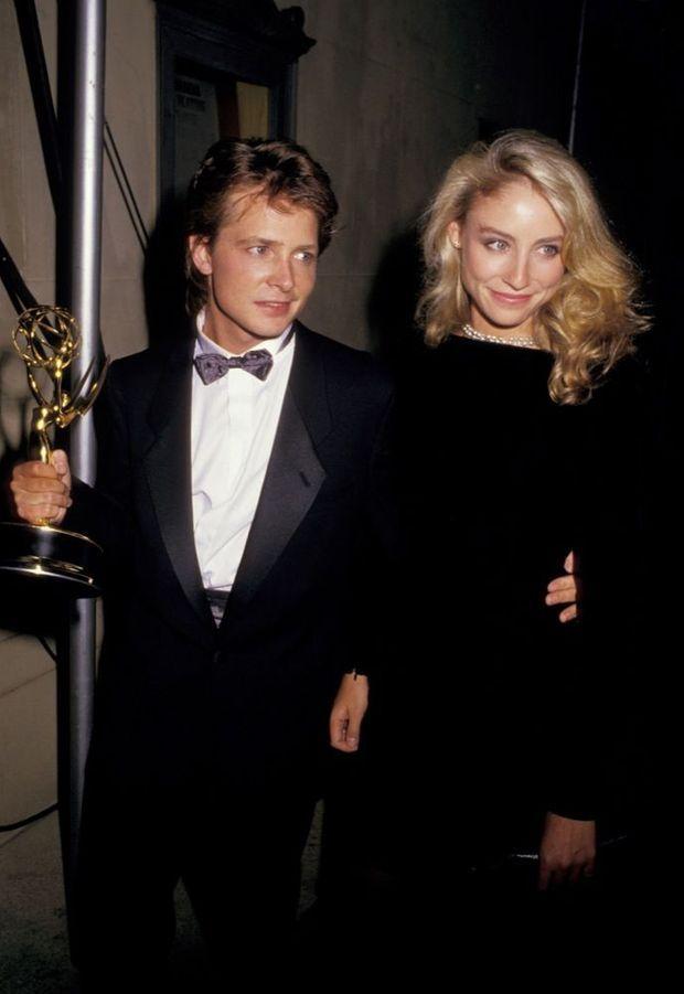 Michael J. Fox et Tracy Pollan aux Emmy Awards de 1987.
