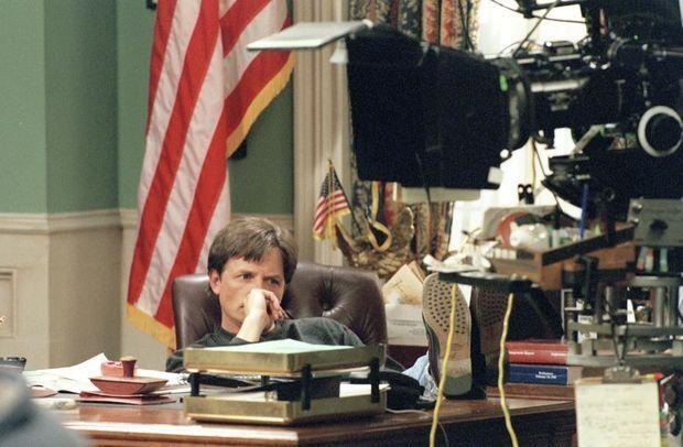 Dernier tournage de «Spin City» pour Michael J. Fox, le 17 mai 2000.
