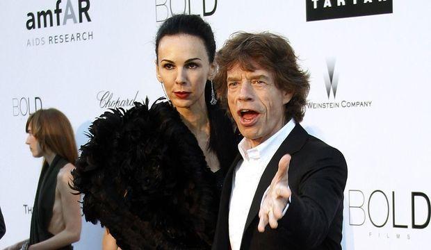 Mick Jagger et L'Wren Scott.-