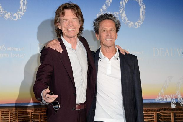 "Mick Jagger et Brian Grazer lors du photocall de ""Get on up""."