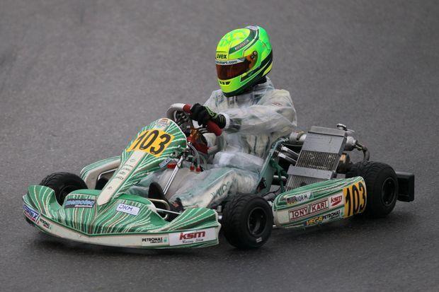 Mick Schumacher sur le circuit de Genk, en karting.