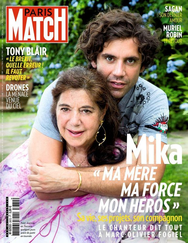 Mika et sa mère Joannie en couverture de Paris Match n°3672, daté du 26 septembre 2019.