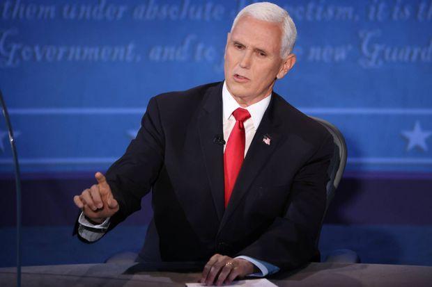 Mike Pence durant le débat.