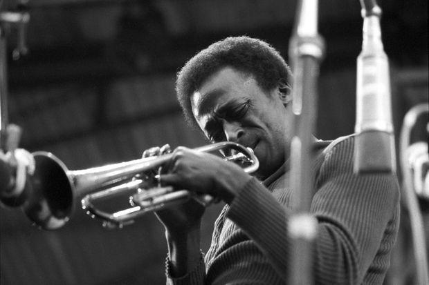 Miles Davis au Festival de l'Île de Wight, en août 1970.