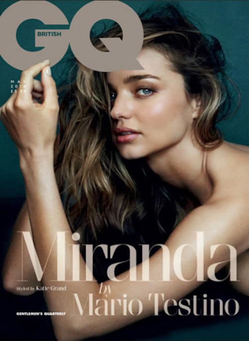 "Miranda Kerr pose pour Mario Testino en Une de ""GQ"""
