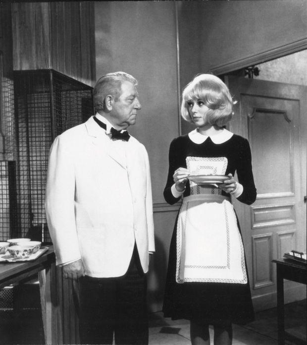 Avec Jean Gabin dans «Monsieur», en 1964. Dans cette comédie de Jean-Paul Le Chanois, elle excelle dans le rôle de soubrette nigaude.
