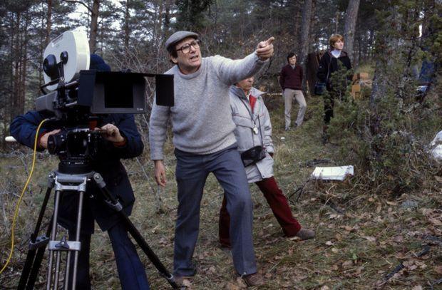 Sur le tournage des « Misérables » en 1982.