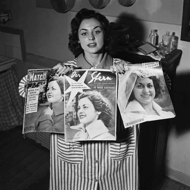 Sylviane Carpentier en 1954.
