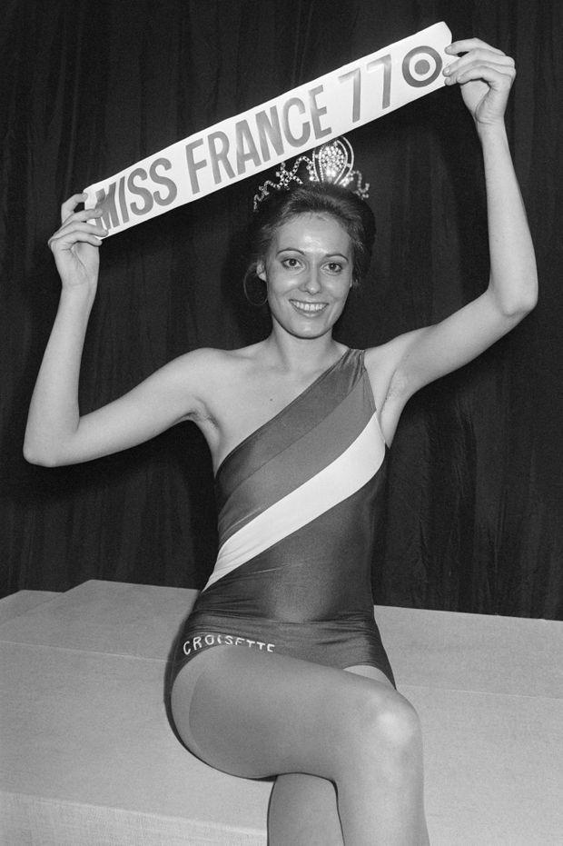 Veronique Fagot, élue Miss France le 29 décembre 1976 à Paris.