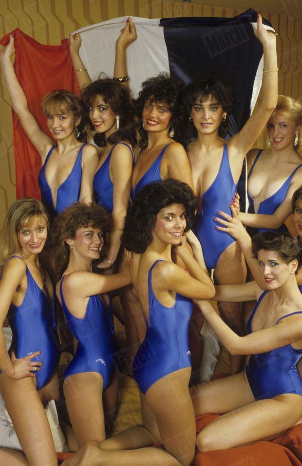 Les candidates de Miss France 1985...