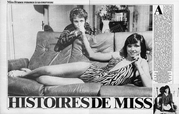 Corinne Ascione dans Paris Match n°1756, daté du 21 janvier 1983.