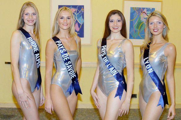 Miss France 2002. Mélanie Georges, Anne-Valérie Michellier, Patricia Recanati, Sylvie Tellier.