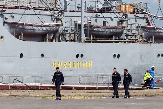 Le 30 juin dernier, des soldats russes sont arrivés à Saint-Nazaire pour se familiariser avec le Mistral qui devait leur être livré.