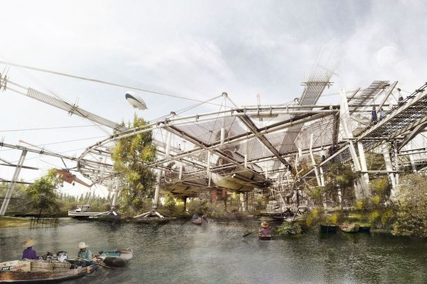 Re-Generator, lauréat du prix Architecture & Problématique de la Montée du Niveau des Océans en 2015