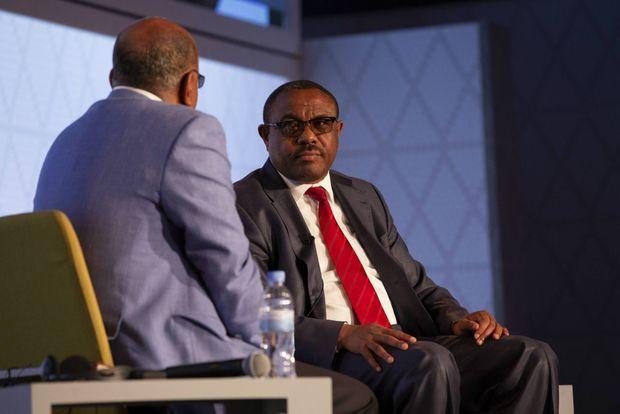 Hailmariam Desalegn, était Premier ministre d'Ethiopie de 2012 jusqu'au 4 avril 2018. Ici, à Kigali, le 28 avril 2018 avec Mo Ibrahim.