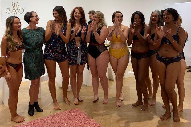 Camille Cerf et les modèles qui ont présenté ses créations jeudi.