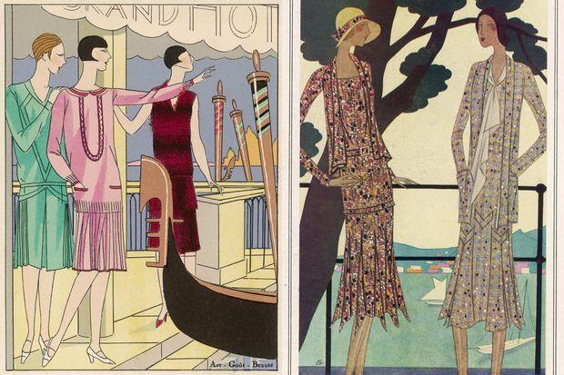 Des dessins des créations de Molyneux, de 1926 et 1930.