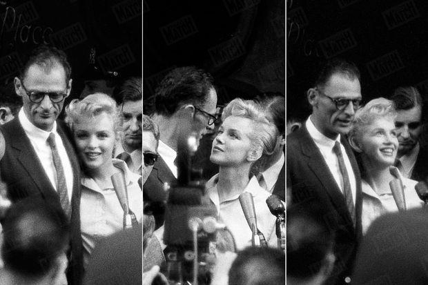 « A tour de rôle, ils parlèrent au micro et conclurent leur conférence de presse par un baiser. » - Paris Match n°378, 7 juillet 1956