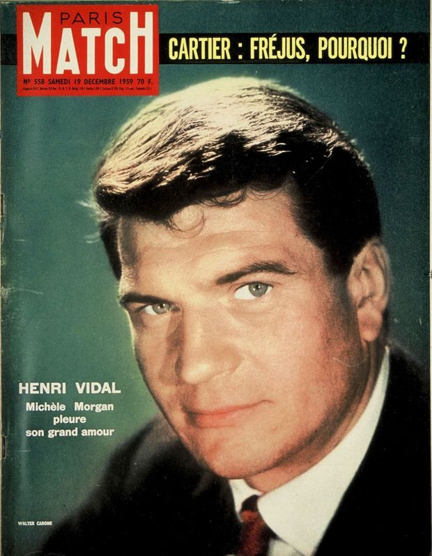 La disparition d'Henri Vidal, en couverture de Paris Match n°558, daté du 19 décembre 1959.