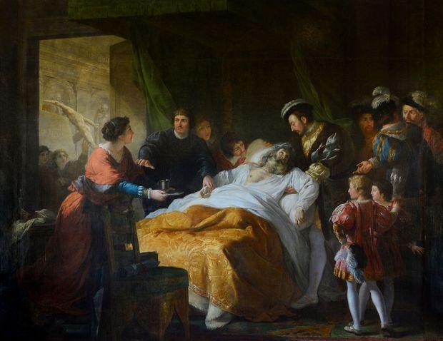 """""""La mort de Léonard de Vinci"""" par François-Guillaume Ménageot"""