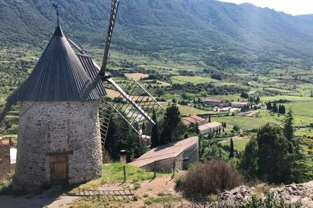 Le moulin à vent de Cucugnan, où les blés étaient autrefois transformés en farine.