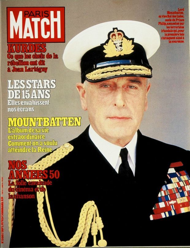 L'assassinat de Lord Mountbatten en couverture de Paris Match n°1580, 7 septembre 1979