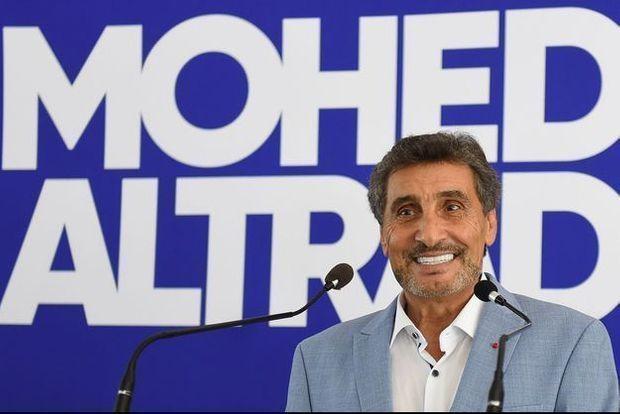 Mohed Altrad à Montpellier lors de sa déclaration de candidature, en septembre 2019.