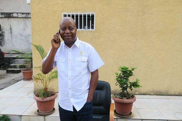 Adolphe Muzito, le 20 juin 2018 dans son QG à Kinshasa
