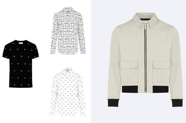 Tshirt, chemise et blouson, M.X Paris.