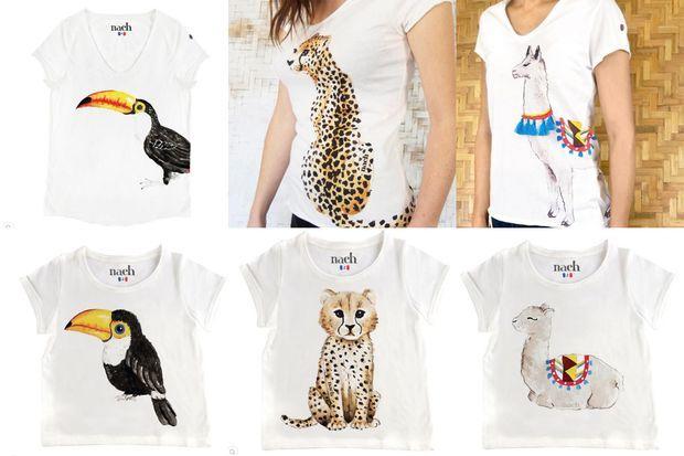 Les t-shirts de chez Nach.