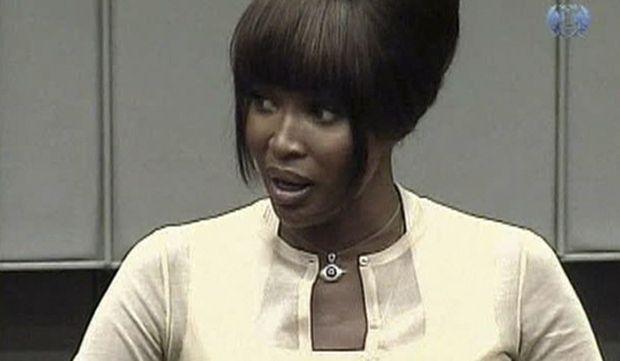 Naomi Campbell jurer tribunal La Haye-