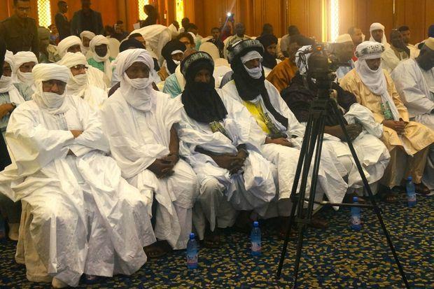 """Le chef des Kel Ansar """"Nasser"""" à Bamako le 27 juillet 2017"""