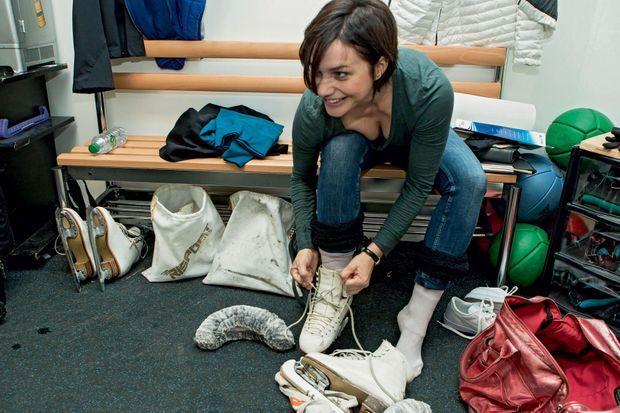 Nathalie Péchalat Dans les vestiaires de l'AccorHotels Arena
