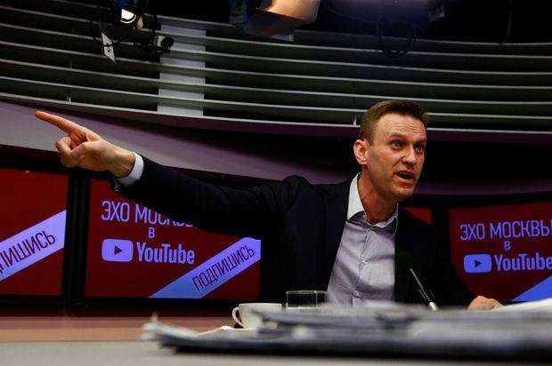 Alexeï Navalny, le 14 mars 2018 au micro de la radio moscovite Ekho Moskvy