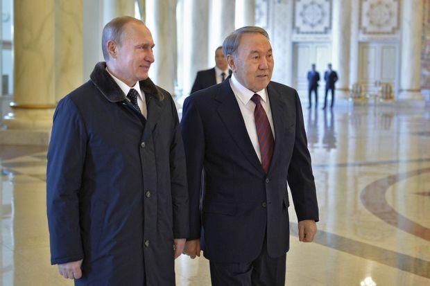 Noursoultan Nazarbaïev et Vladimir Poutine.