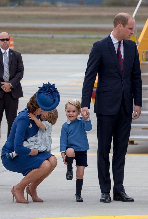 Les Cambrige à l'aéroport de Victoria, samedi 24 septembre.