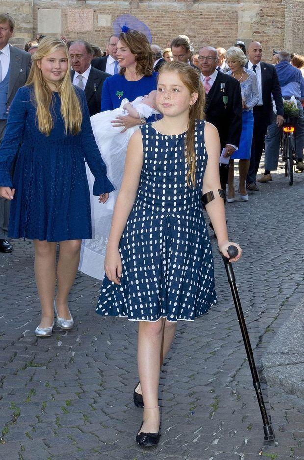 La princesse Alexia des Pays-Bas, avec sa grande soeur la princesse Catharina-Amalia, à Parme le 25 septembre 2016