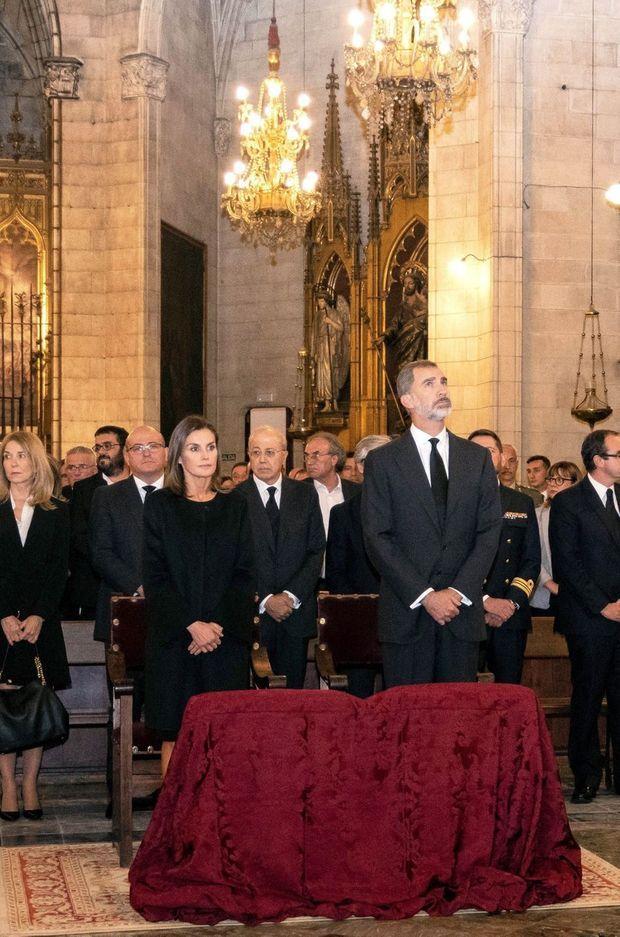 La reine Letizia et le roi Felipe VI d'Espagne à Manacor, le 17 octobre 2018
