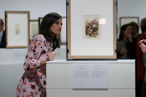 La reine Letizia d'Espgane au Musée du Prado à Madrid, le 19 novembre 2019